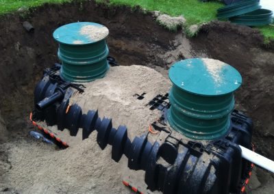 Septic tank with easy access septic lids