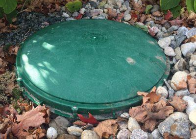 Septic riser & lids install