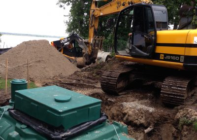 Sewage treatment for waterfront properties