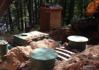 minimal footprint septic system